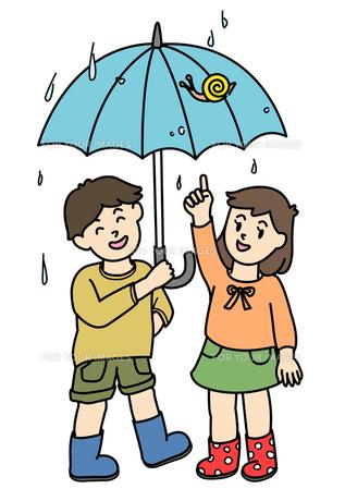 かたつむりと傘の写真素材 [FYI00180076]