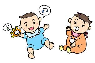 赤ちゃん2種類の写真素材 [FYI00180087]