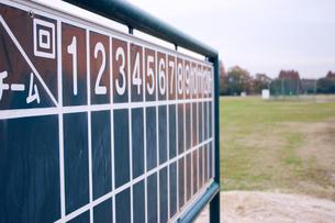 屋外野球場のスコアボードの写真素材 [FYI00180276]