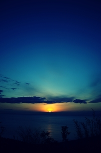 日が沈むの写真素材 [FYI00180355]
