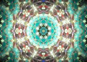 ターコイズブルー花 万華鏡の写真素材 [FYI00180454]
