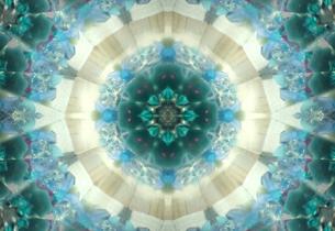 クリスタルブルー万華鏡の写真素材 [FYI00180458]