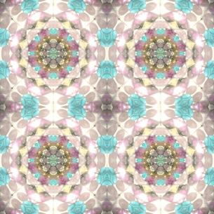 水色薔薇 万華鏡の写真素材 [FYI00180463]