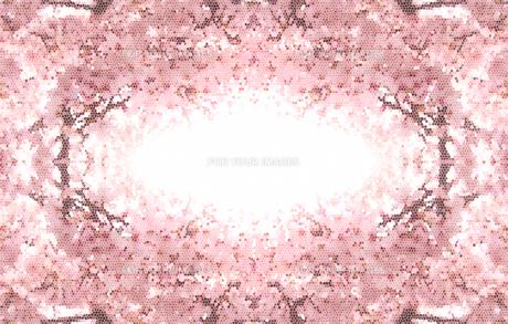 桜のフレーム ステンドグラス調の写真素材 [FYI00180485]