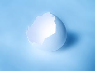 光る卵の殻の写真素材 [FYI00180487]