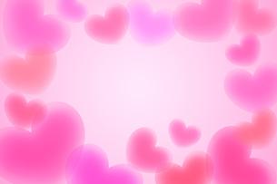 ハートフレーム ピンクの写真素材 [FYI00180529]