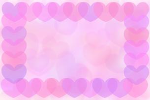 ハートフレーム ピンクの写真素材 [FYI00180532]