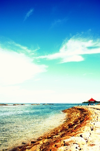 バリの海を望める小屋への道の素材 [FYI00180904]