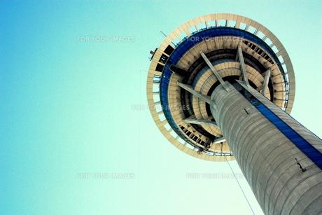 マカオタワーと青空の素材 [FYI00180936]