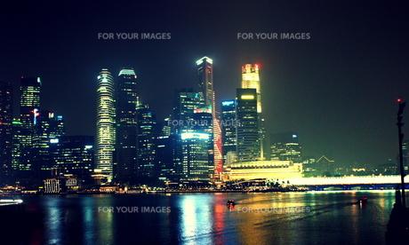シンガポールの夜景の写真素材 [FYI00180937]