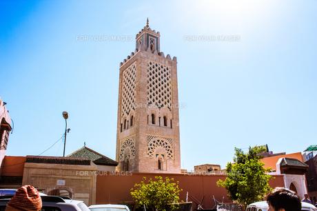 モロッコ マラケシュの塔の素材 [FYI00180966]