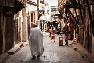 モロッコ フェズのメディナの素材 [FYI00180967]