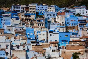 モロッコ シャウエンの街並みの素材 [FYI00181003]