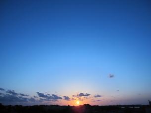 夕日の素材 [FYI00181113]