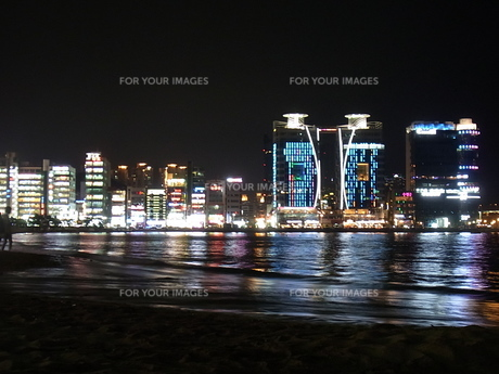 韓国の夜景の写真素材 [FYI00181142]