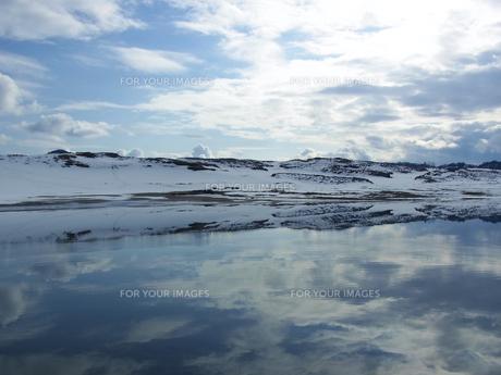冬の鳥取砂丘の素材 [FYI00181222]