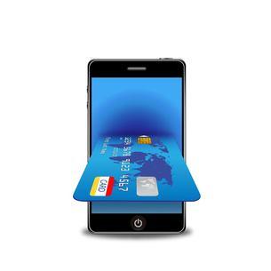 スマートフォンとクレジットカードの写真素材 [FYI00181326]