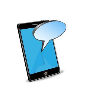 スマートフォンとメッセージの写真素材 [FYI00181338]