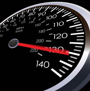 車のスピードメーターの写真素材 [FYI00181340]