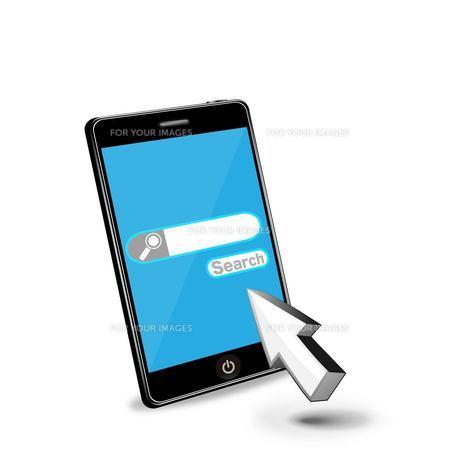 スマートフォンで検索の写真素材 [FYI00181350]