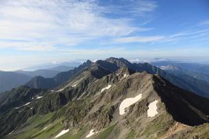 槍ヶ岳頂上から見た景色の写真素材 [FYI00181358]