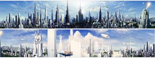 未来都市360度の写真素材 [FYI00181713]