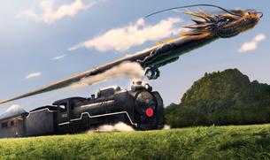黒龍と蒸気機関車の素材 [FYI00181716]