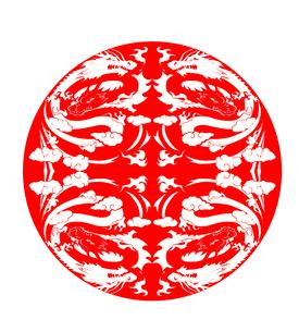対称な龍の写真素材 [FYI00181738]