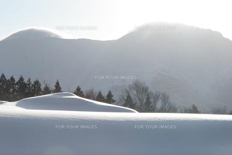 駒が岳の雪景色の写真素材 [FYI00181997]