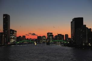 隅田川夜景の写真素材 [FYI00185978]