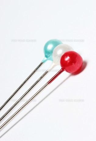 フランスカラーのまち針の素材 [FYI00185996]