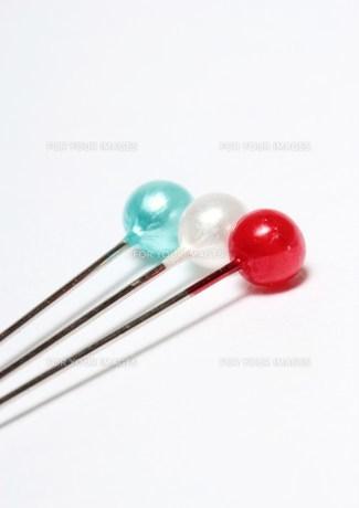 フランスカラーのまち針の素材 [FYI00186013]