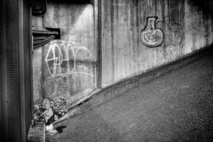 多摩川 壁の写真素材 [FYI00186307]
