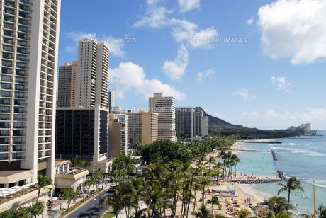 ハワイのワイキキビーチの写真素材 [FYI00186445]