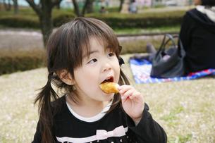 女の子とピクニックの写真素材 [FYI00186483]