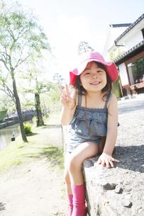 笑顔の女の子の写真素材 [FYI00186505]