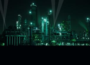 四日市の工業地帯の写真素材 [FYI00186513]