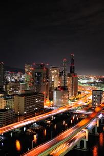 動く神戸の夜景の写真素材 [FYI00186631]