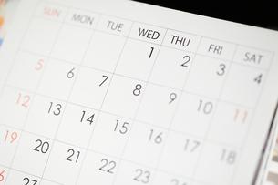 カレンダーの写真素材 [FYI00186776]