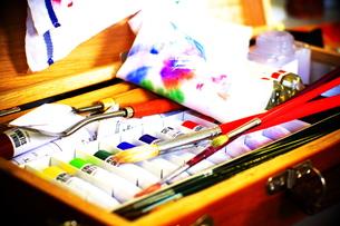 画家の道具箱の写真素材 [FYI00186861]