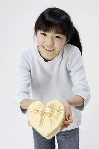 プレゼントを持つ女の子の写真素材 [FYI00186949]