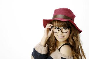 眼鏡の女性の写真素材 [FYI00186978]