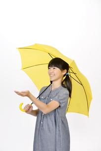 傘をさす小学生の女の子の写真素材 [FYI00187084]
