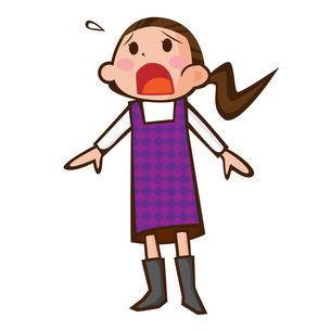 叫ぶ女性の写真素材 [FYI00187477]