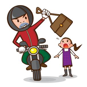 オートバイ 男性 窃盗の写真素材 [FYI00187478]