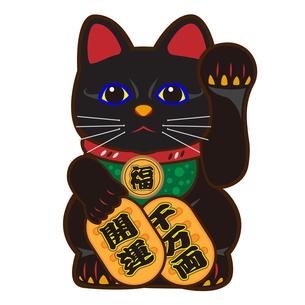 招き猫のイラストの写真素材 [FYI00187501]