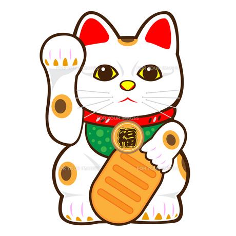招き猫のイラストの写真素材 [FYI00187508]