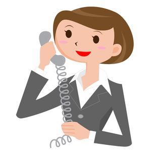 電話をする女性の写真素材 [FYI00187516]
