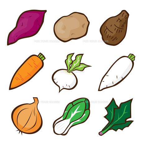 野菜のイラストの写真素材 [FYI00187521]