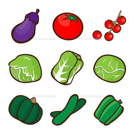 野菜のイラストの写真素材 [FYI00187534]